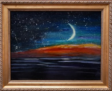 caramel night 10x8 in (11.5-9.5 with frame)