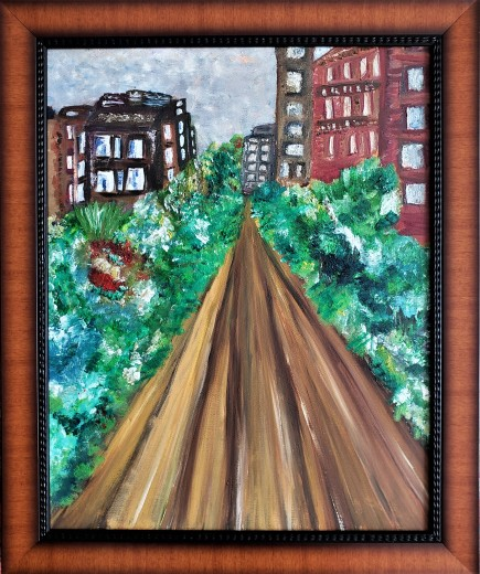 THE HIGHLINE NYC 23X19 IN WITH FRAME